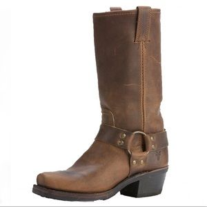 FRYE Harness Rugged Leather Riding Boots Size 6.5